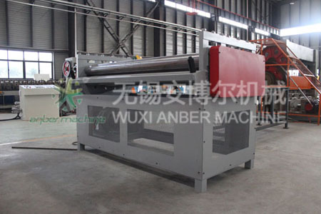 Expanded mesh leveling machine