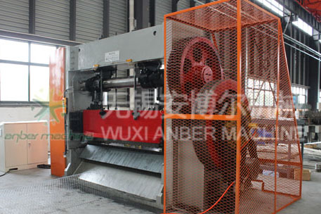 Heavy-duty expanded metal mesh machine